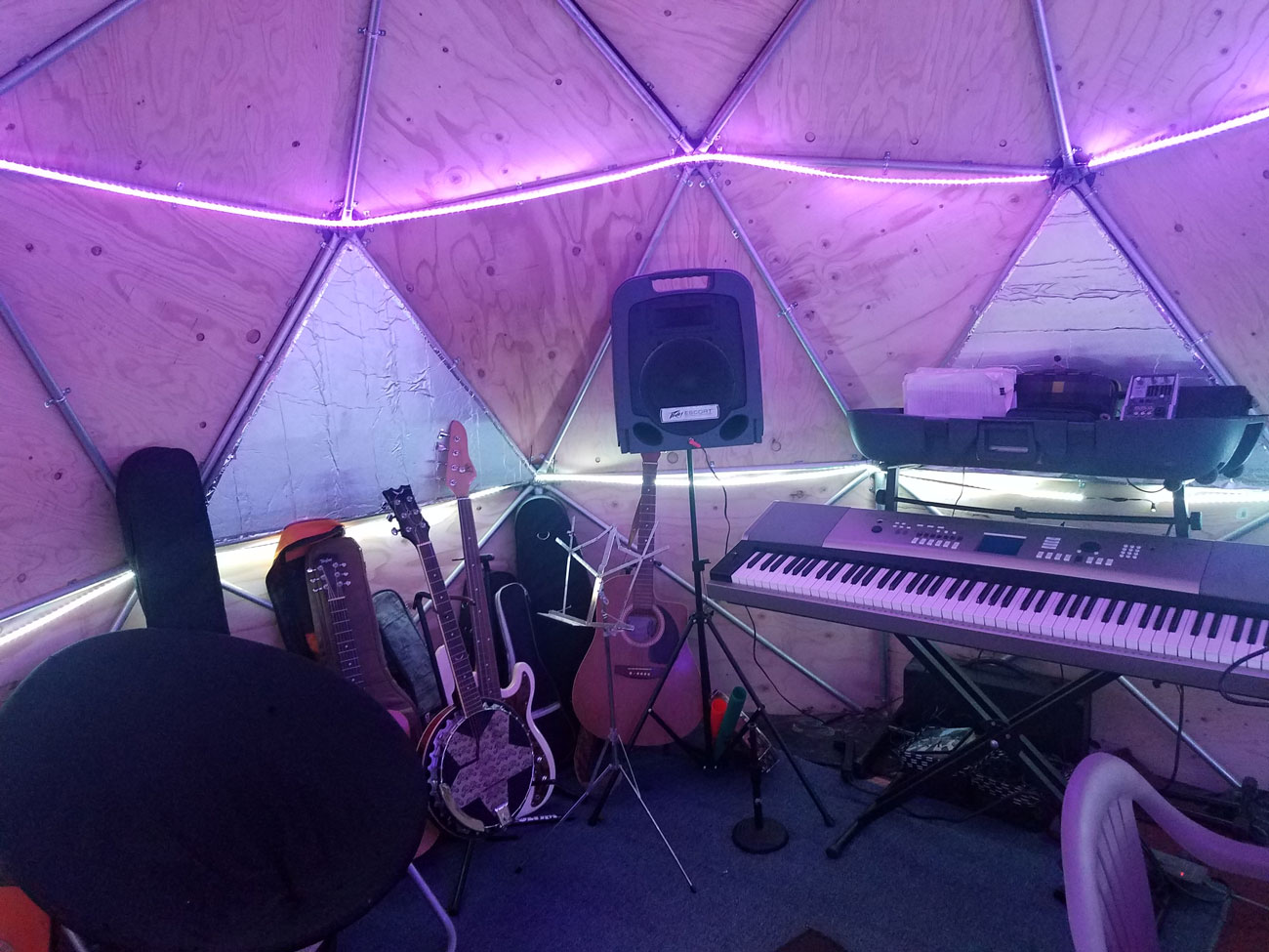 Geodesic-dome-sound-room